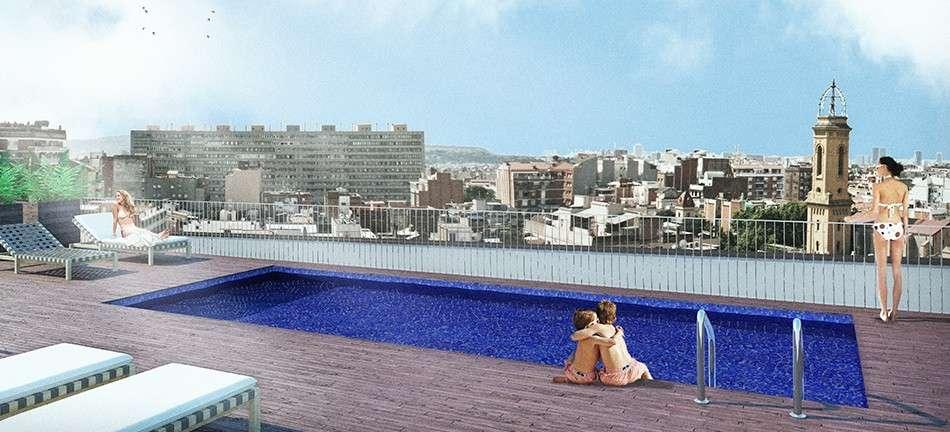 Apartamento con piscina comunitaria en Les Corts