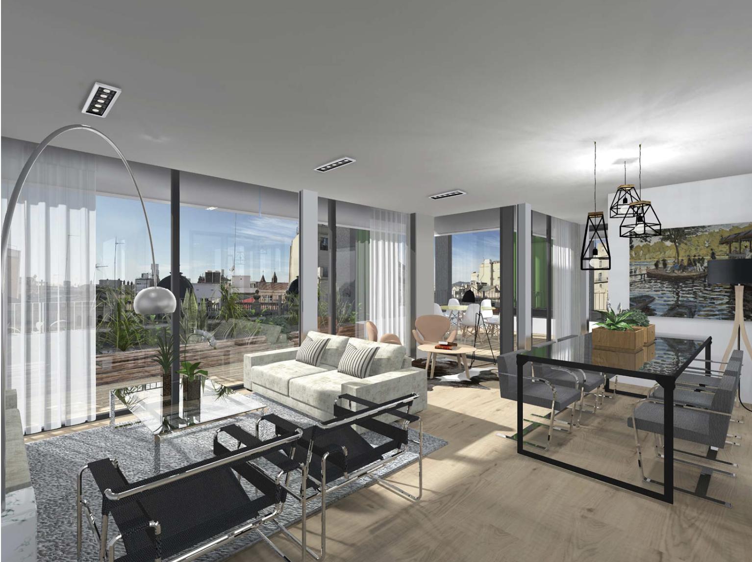 Apartamento con Terraza en el Paseo de Gracia